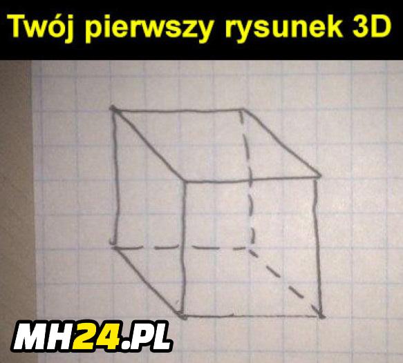 Czy taki był twój pierwszy rysunek 3D