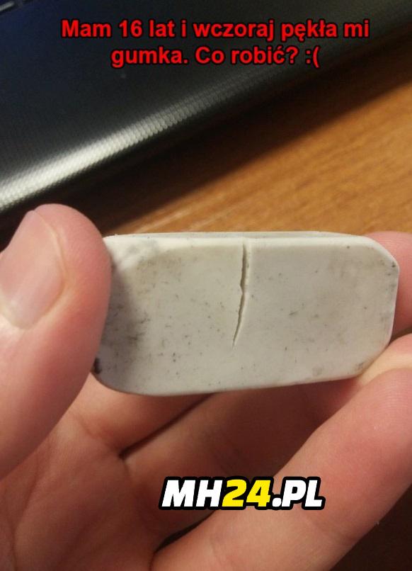 Mam 16 lat i wczoraj pękła mi gumka