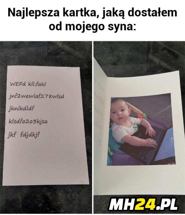 Najlepsza kartka jaką dostałem od mojego syna