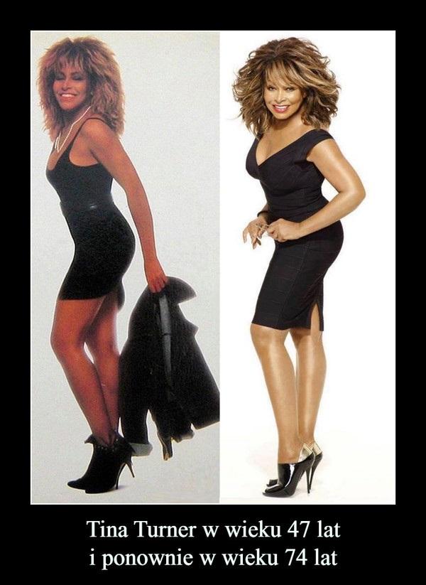 Tina Turner w wieku 47 lat i 74