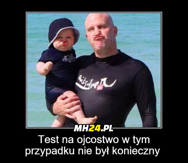 W ich przypadku test na ojcostwo nie jest potrzebny