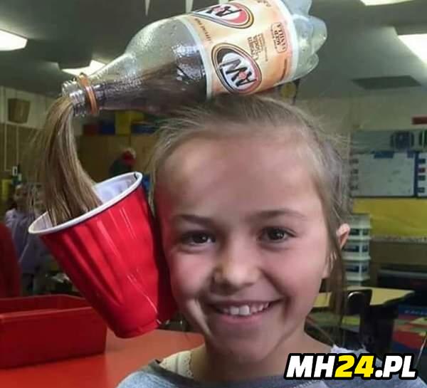Zrobiłem córce fryzurę ze starej butelki
